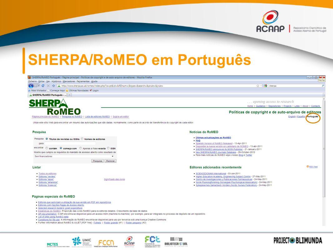 SHERPA/RoMEO em Português
