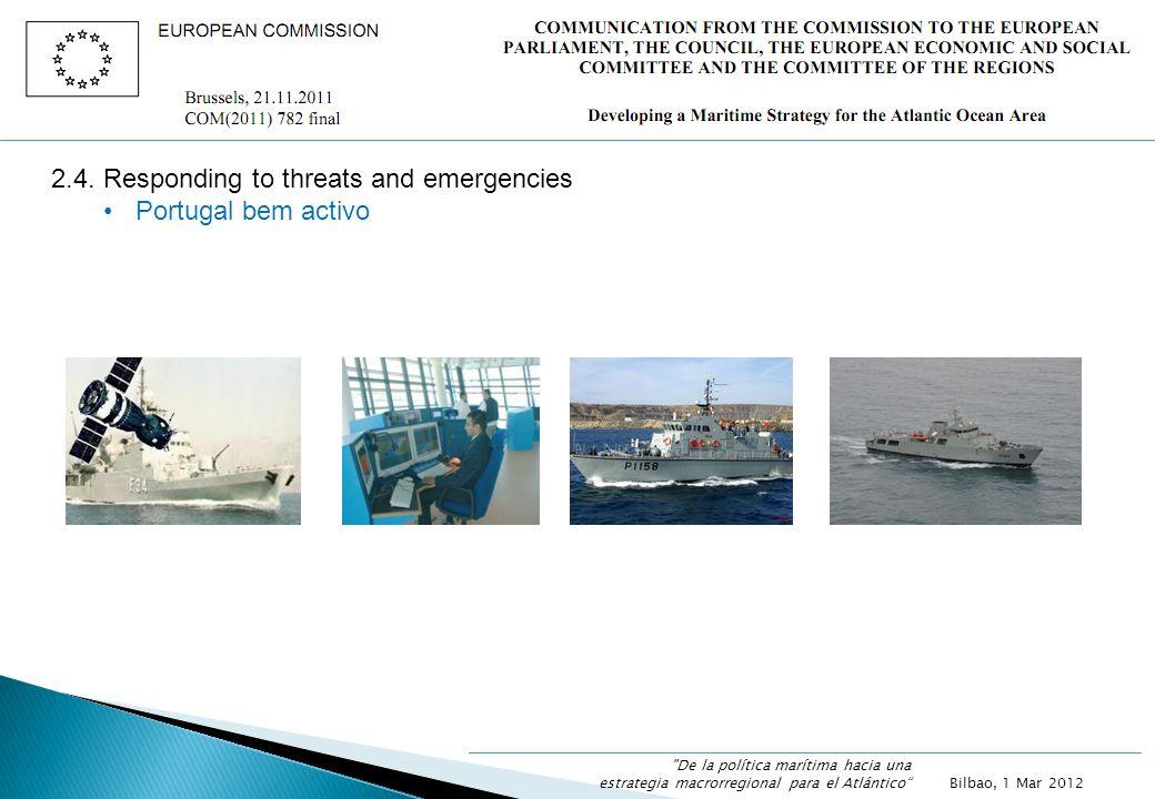2.4. Responding to threats and emergencies Portugal bem activo Bilbao, 1 Mar 2012