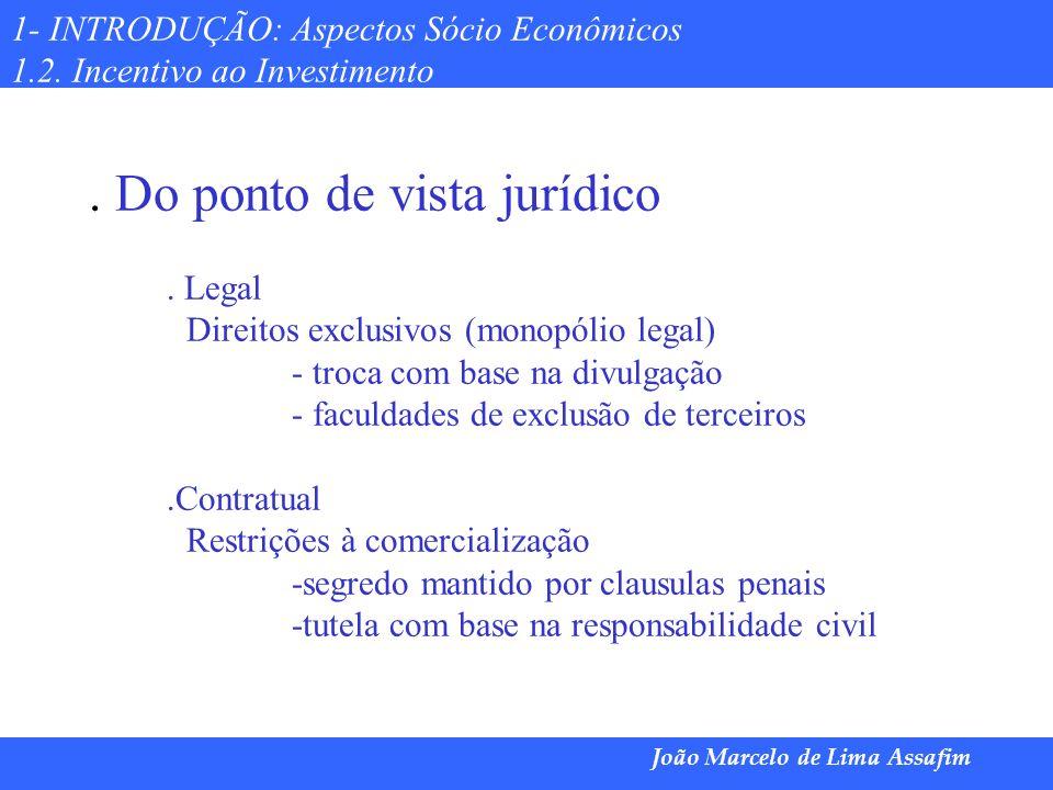 Marco Túlio de Barros e Castro João Marcelo de Lima Assafim 1- INTRODUÇÃO: Aspectos Sócio Econômicos 1.2. Incentivo ao Investimento. Do ponto de vista
