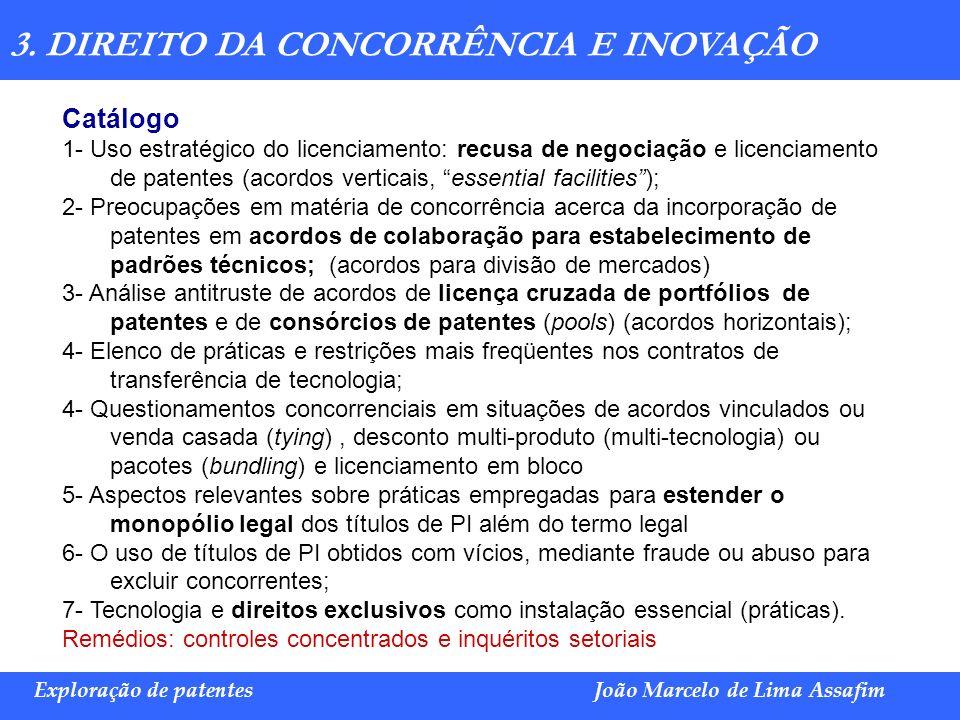 Marco Túlio de Barros e Castro Exploração de patentesJoão Marcelo de Lima Assafim Catálogo 1- Uso estratégico do licenciamento: recusa de negociação e