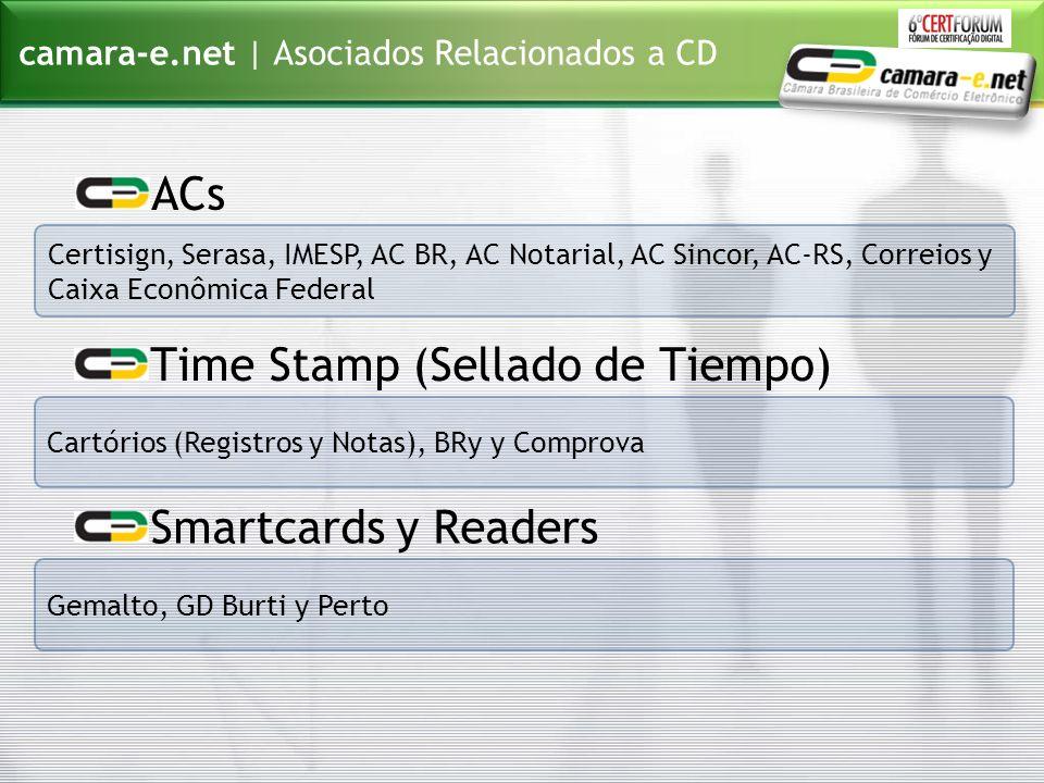 Certisign, Serasa, IMESP, AC BR, AC Notarial, AC Sincor, AC-RS, Correios y Caixa Econômica Federal camara-e.net | Asociados Relacionados a CD ACs Cart