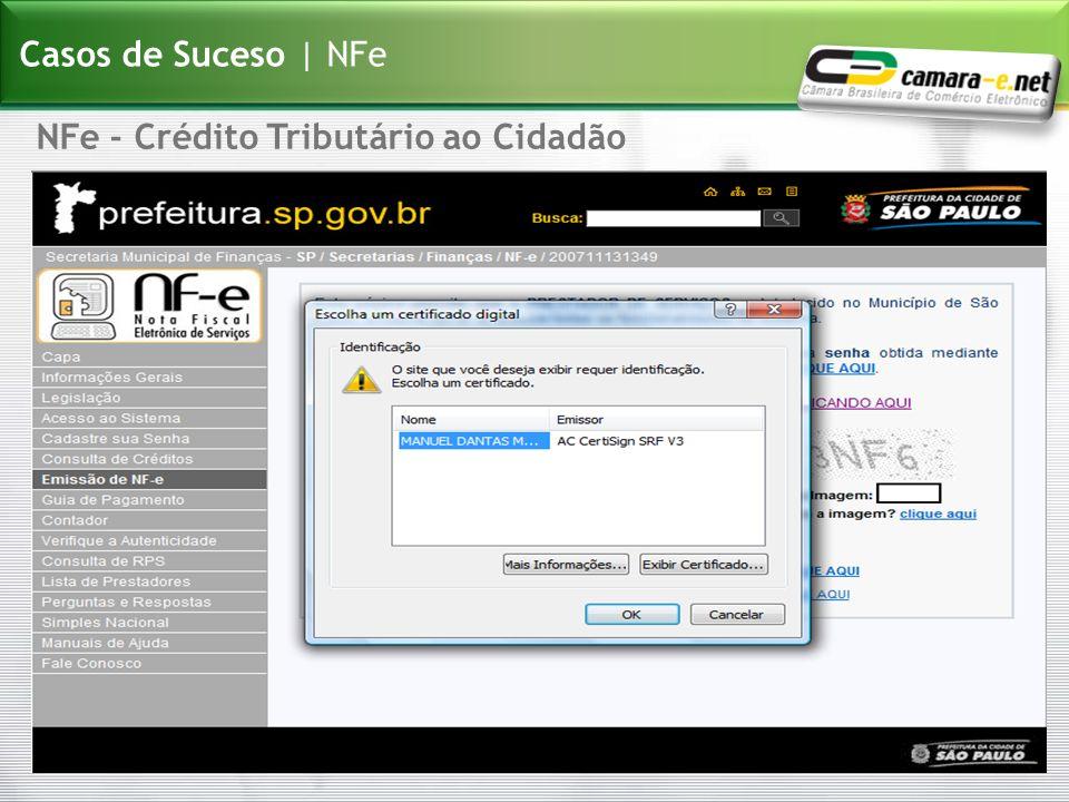 NFe - Crédito Tributário ao Cidadão Casos de Suceso | NFe