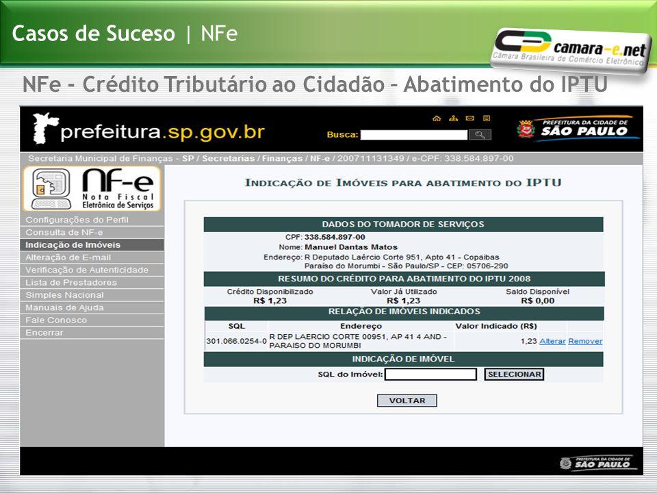 NFe - Crédito Tributário ao Cidadão – Abatimento do IPTU Casos de Suceso | NFe