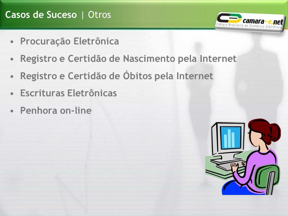 Procuração Eletrônica Registro e Certidão de Nascimento pela Internet Registro e Certidão de Óbitos pela Internet Escrituras Eletrônicas Penhora on-li