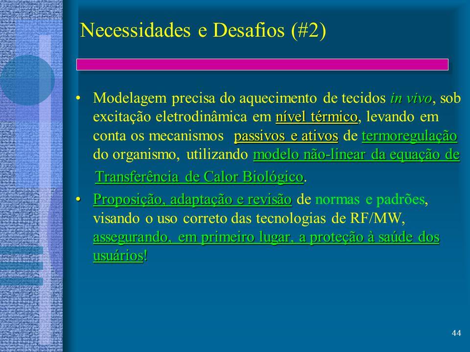 44 Necessidades e Desafios (#2) in vivo nível térmico passivos e ativostermoregulação modelo não-linear da equação deModelagem precisa do aquecimento