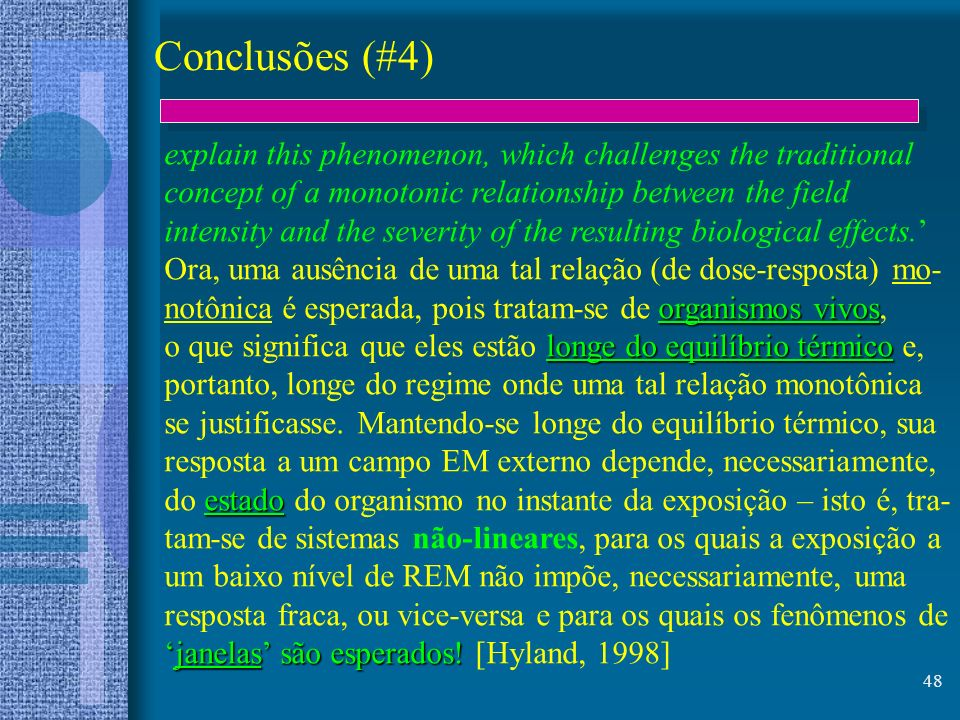 48 Conclusões (#4) explain this phenomenon, which challenges the traditional concept of a monotonic relationship between the field intensity and the s