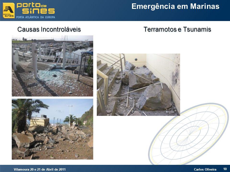 Vilamoura 20 e 21 de Abril de 2011 Carlos Oliveira 10 Emergência em Marinas Causas Incontroláveis Terramotos e Tsunamis