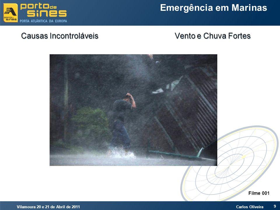 Vilamoura 20 e 21 de Abril de 2011 Carlos Oliveira 9 Emergência em Marinas Causas Incontroláveis Vento e Chuva Fortes Filme 001