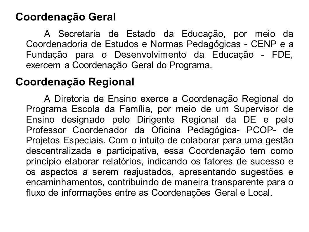 Coordenação Geral A Secretaria de Estado da Educação, por meio da Coordenadoria de Estudos e Normas Pedagógicas - CENP e a Fundação para o Desenvolvim
