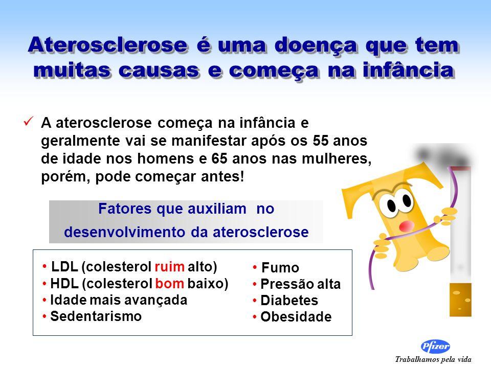 Trabalhamos pela vida Aterosclerose é uma doença que tem muitas causas e começa na infância A aterosclerose começa na infância e geralmente vai se man