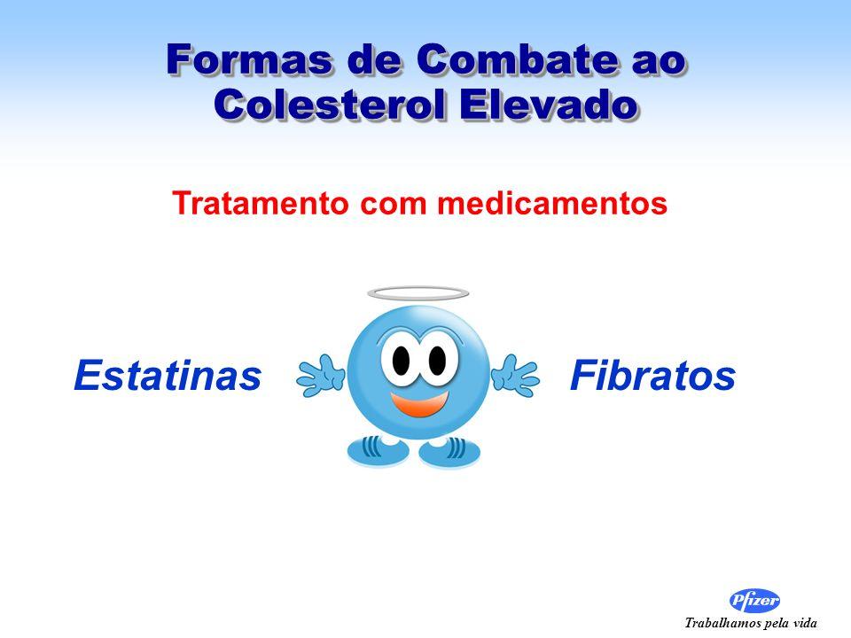 Trabalhamos pela vida Formas de Combate ao Colesterol Elevado Estatinas Fibratos Tratamento com medicamentos