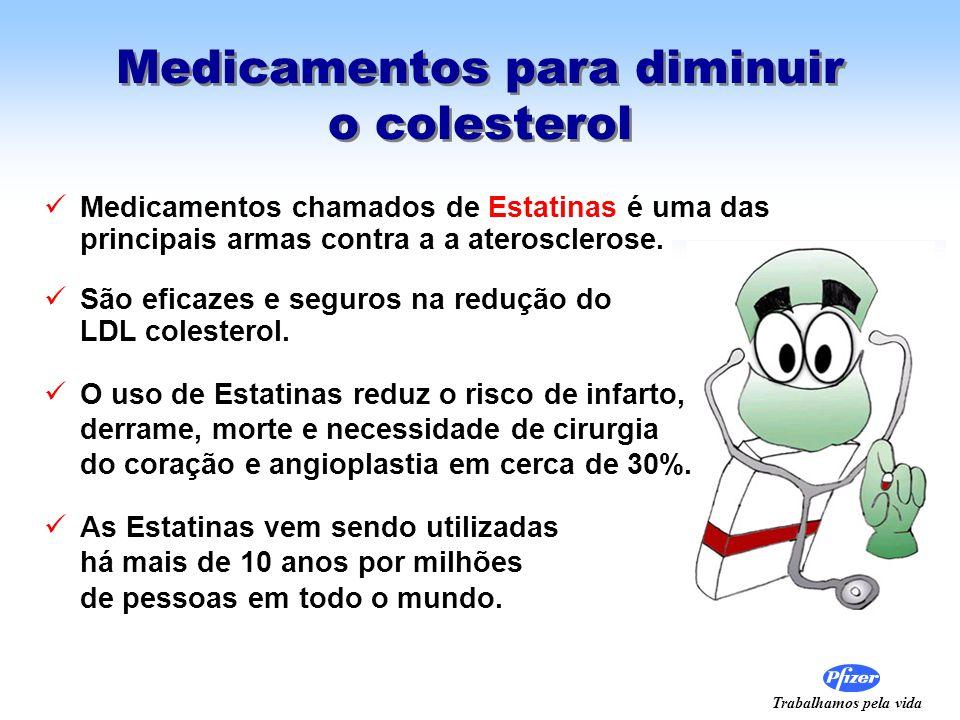 Trabalhamos pela vida Medicamentos para diminuir o colesterol Medicamentos chamados de Estatinas é uma das principais armas contra a a aterosclerose.