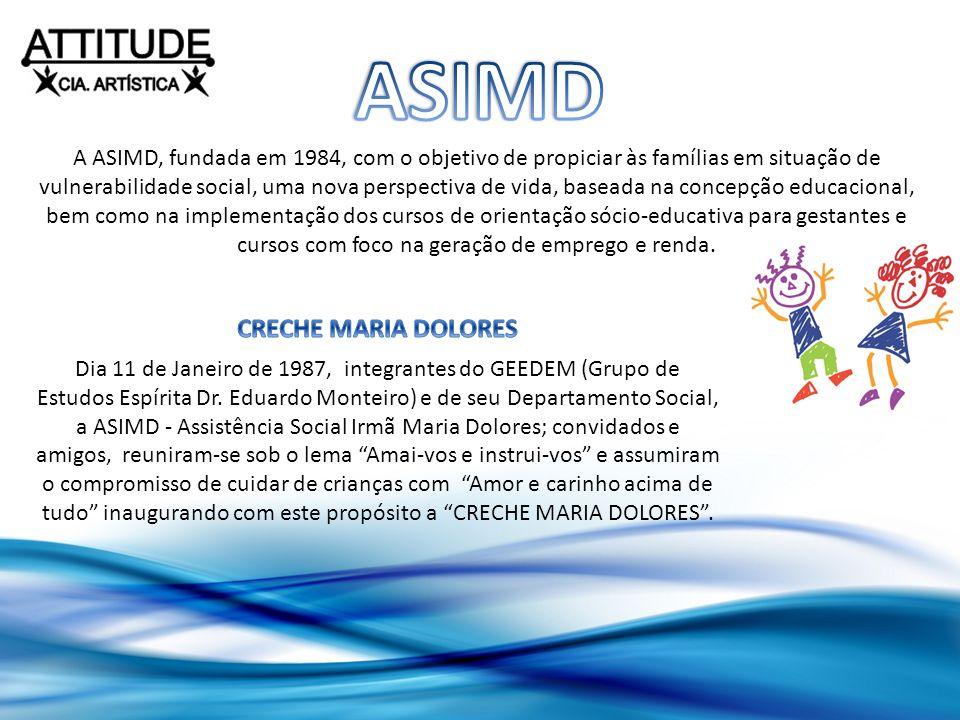 A ASIMD, fundada em 1984, com o objetivo de propiciar às famílias em situação de vulnerabilidade social, uma nova perspectiva de vida, baseada na conc