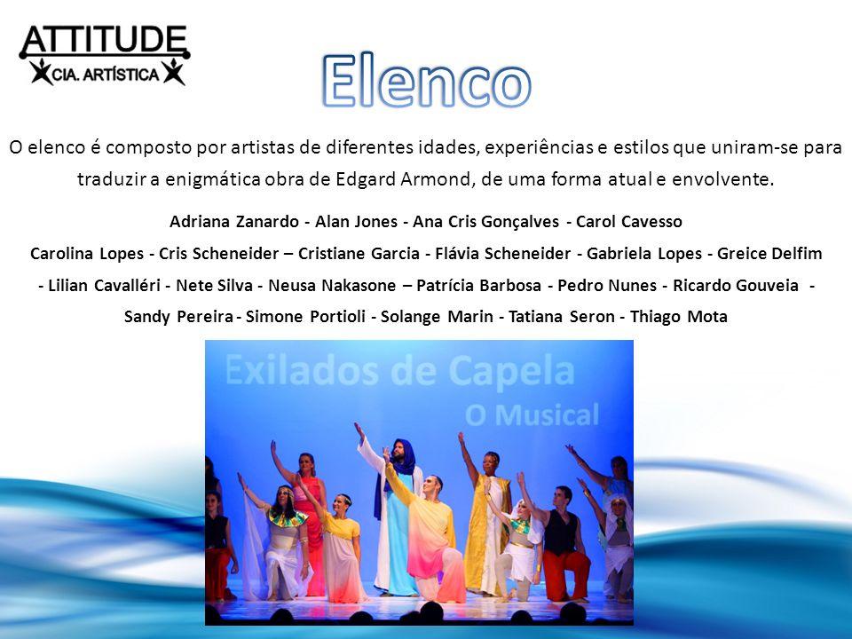 O elenco é composto por artistas de diferentes idades, experiências e estilos que uniram-se para traduzir a enigmática obra de Edgard Armond, de uma f