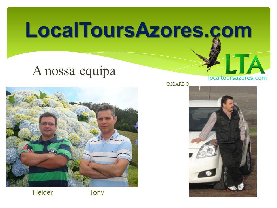 LocalToursAzores.com SPECIAL DISCOUNTS FOR GROUPS Contact (351 ) 910 366 450 oceantours@sapo.pt localtoursazores@gmail.com Website: localtoursazores.com Mais pessoas significa maior desconto!