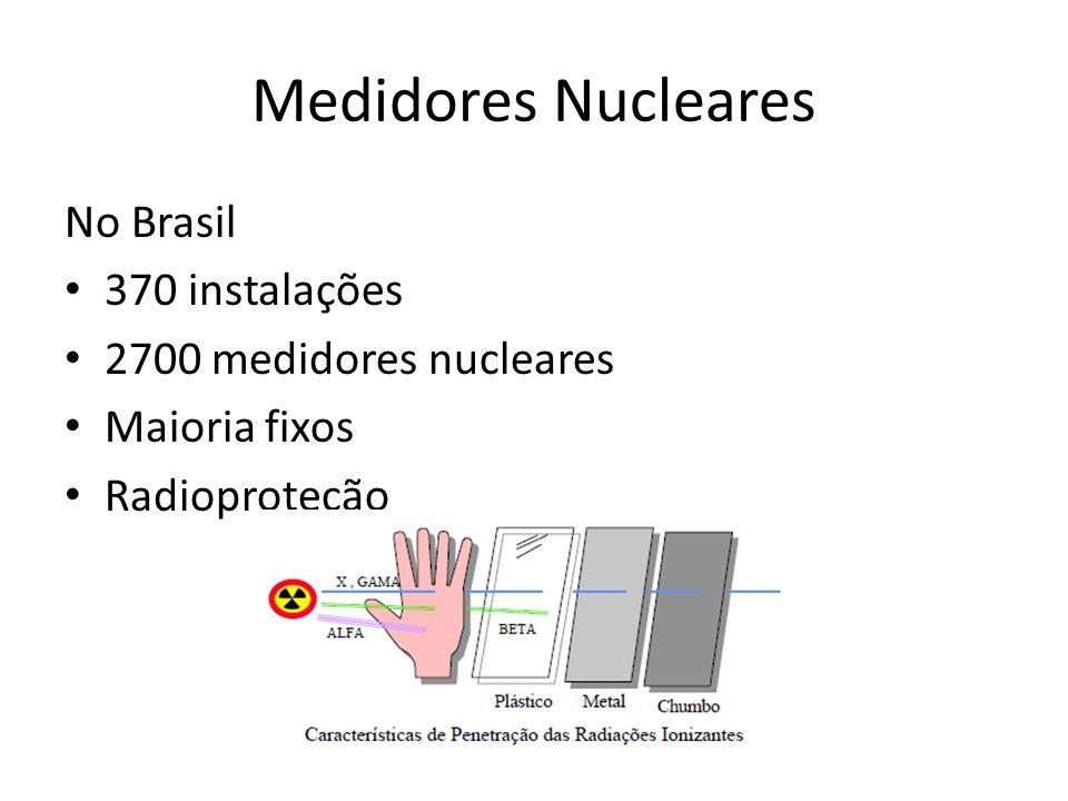 Medidores Nucleares No Brasil 370 instalações 2700 medidores nucleares Maioria fixos Radioproteção