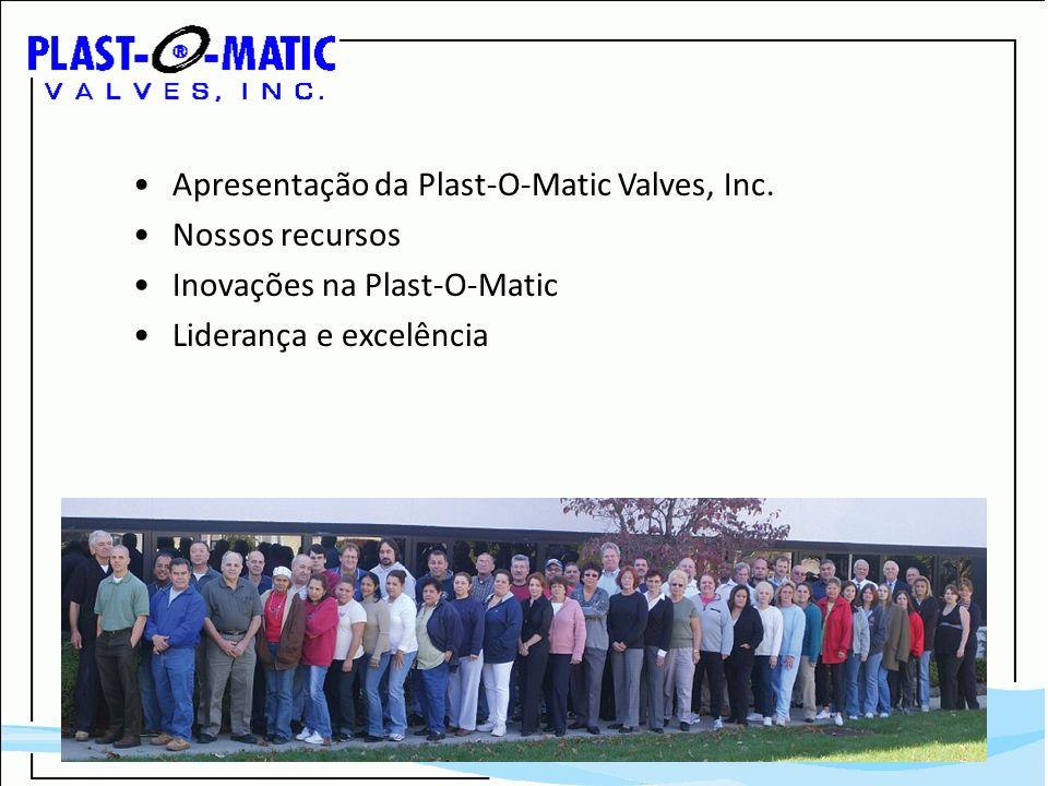 Apresentação da Plast-O-Matic Valves, Inc. Nossos recursos Inovações na Plast-O-Matic Liderança e excelência