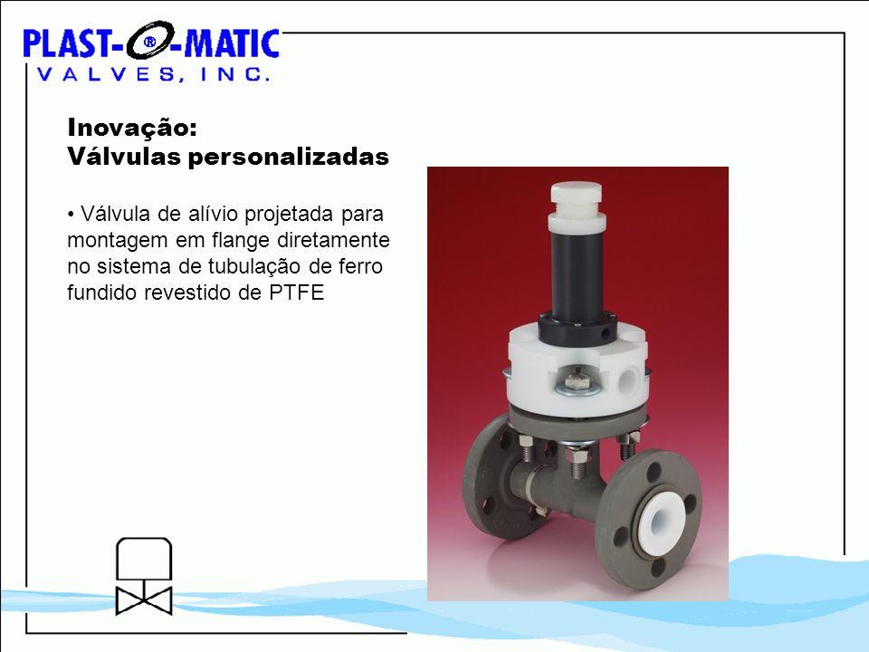 Inovação: Válvulas personalizadas Válvula de alívio projetada para montagem em flange diretamente no sistema de tubulação de ferro fundido revestido d