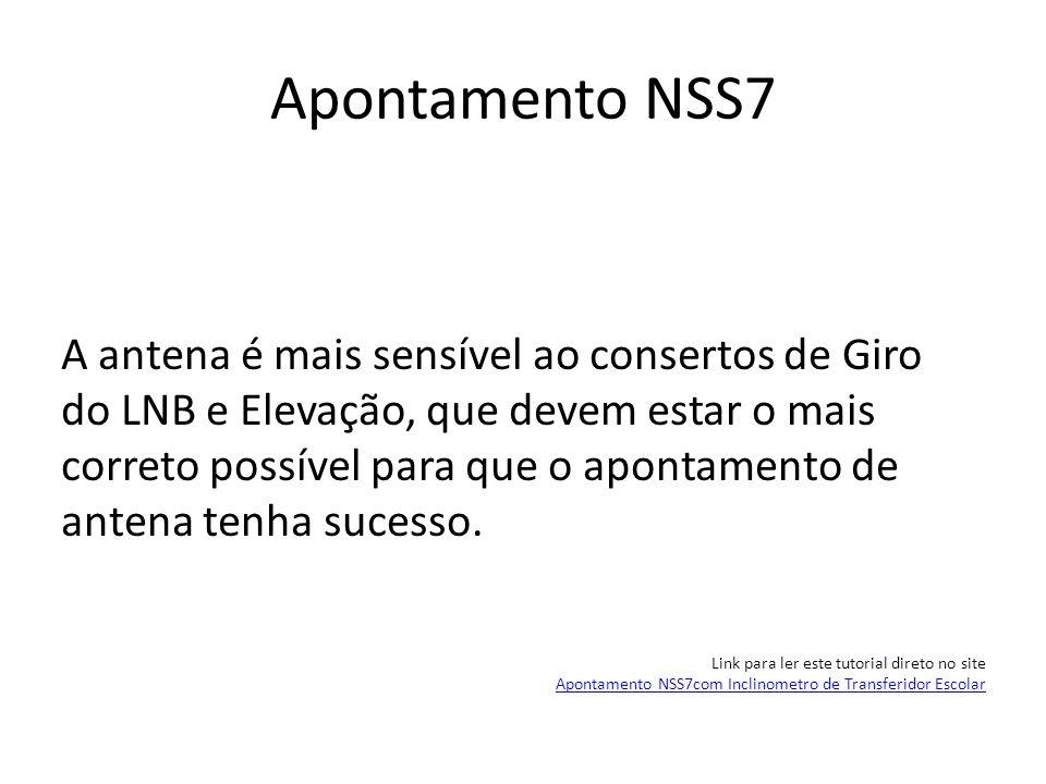 Apontamento NSS7 Vamos começar pelo Giro do LNB.