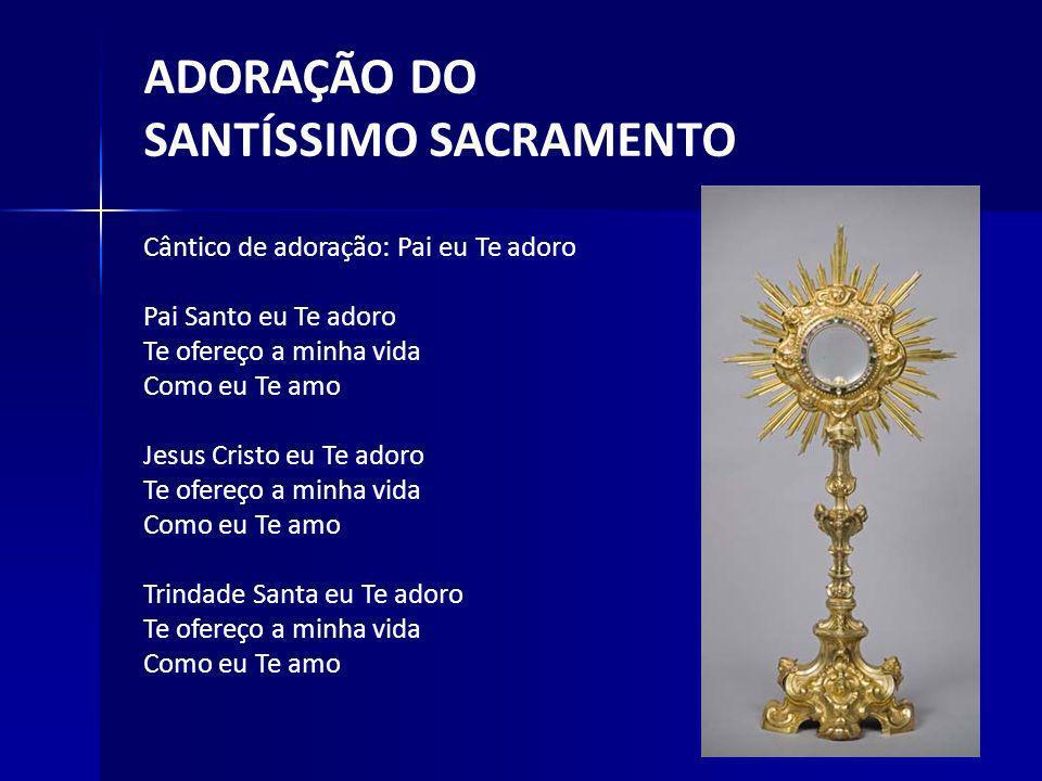Liturgia da Luz Admonição: Em atitude de louvor e agradecimento cada seminarista presente acenderá uma vela diante do Senhor.