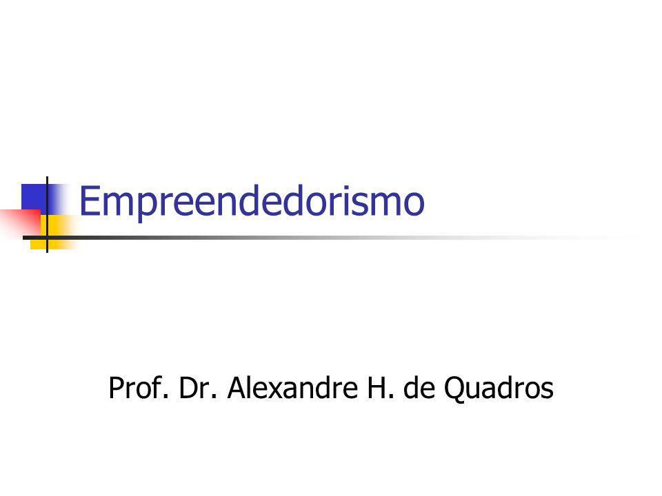 Empreendedorismo Prof. Dr. Alexandre H. de Quadros