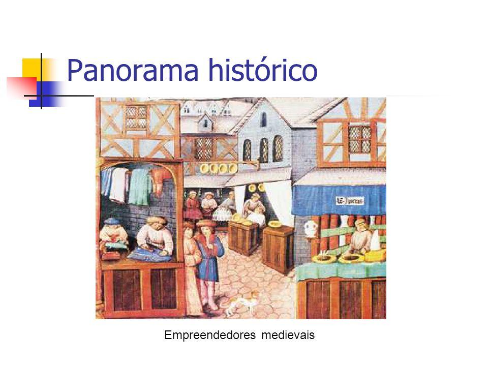 Panorama histórico Empreendedores medievais
