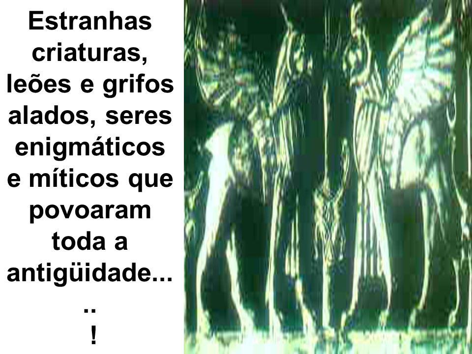 Estranhas criaturas, leões e grifos alados, seres enigmáticos e míticos que povoaram toda a antigüidade..... !