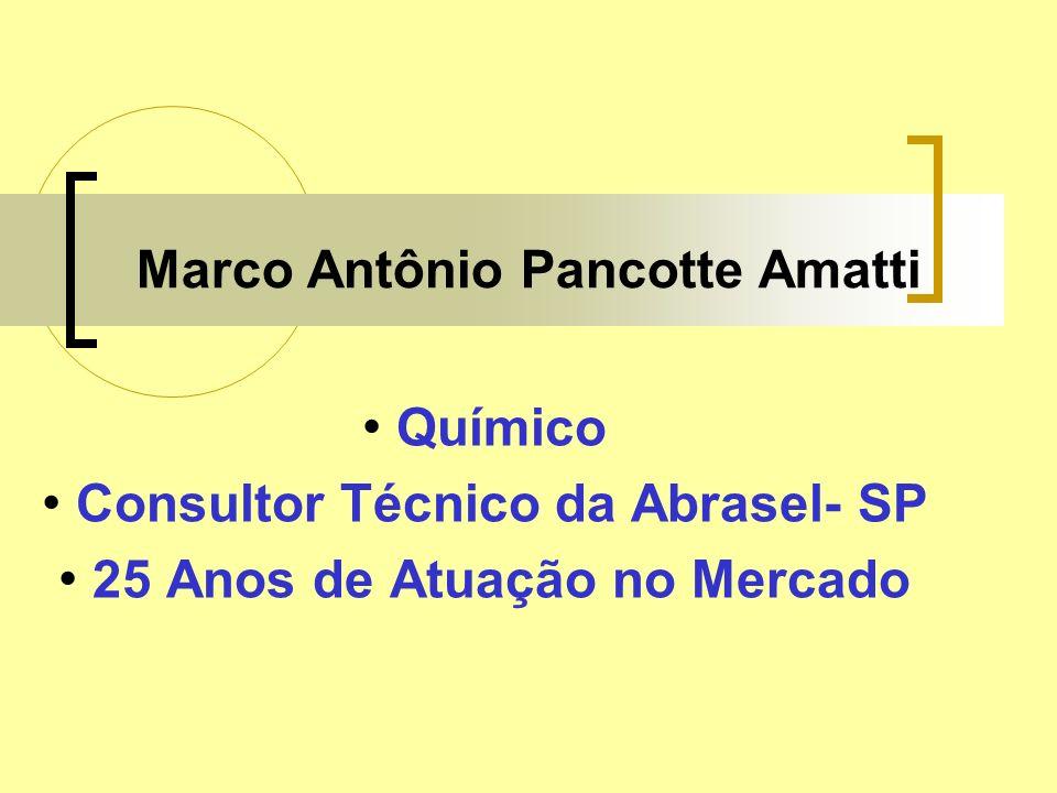 Marco Antônio Pancotte Amatti Químico Consultor Técnico da Abrasel- SP 25 Anos de Atuação no Mercado