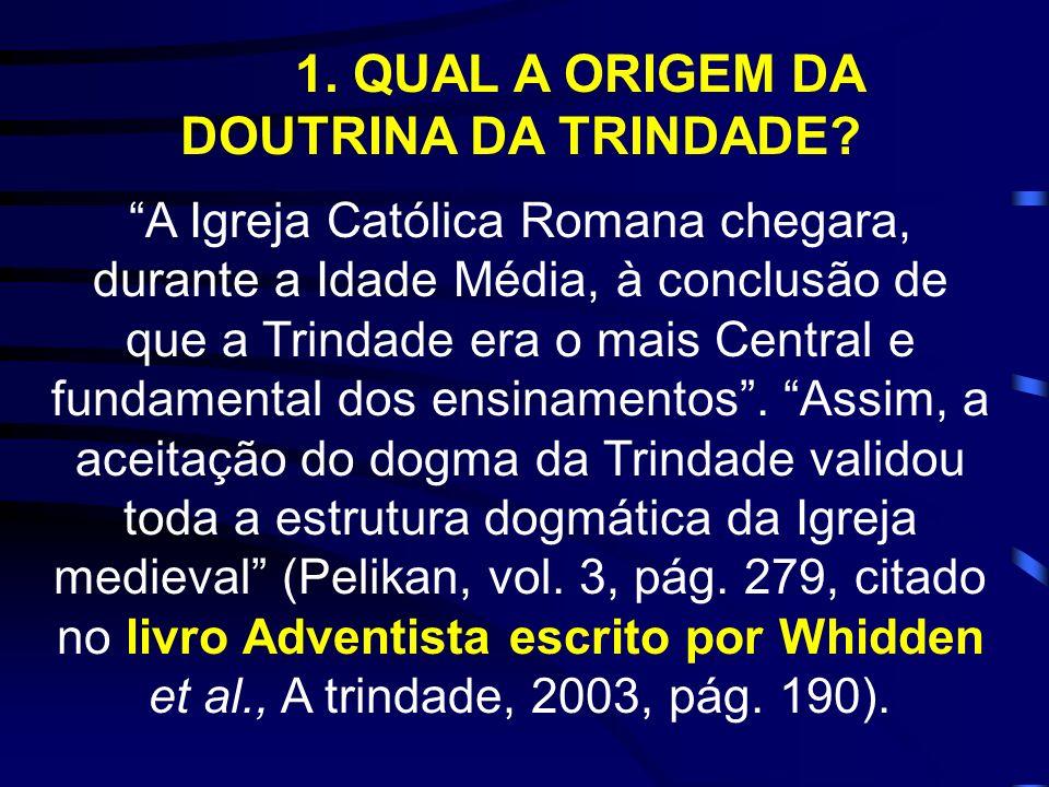 O LIVRO DA TRINDADE (Whidden et al.,2003), é um verdadeiro FURACÃO, pois derruba quase tudo que foi construído pelos santos de todos os tempos, na medida em que: