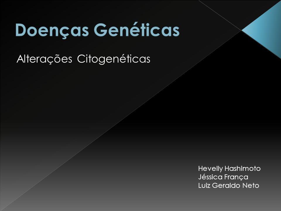 Alterações Citogenéticas Hevelly Hashimoto Jéssica França Luiz Geraldo Neto