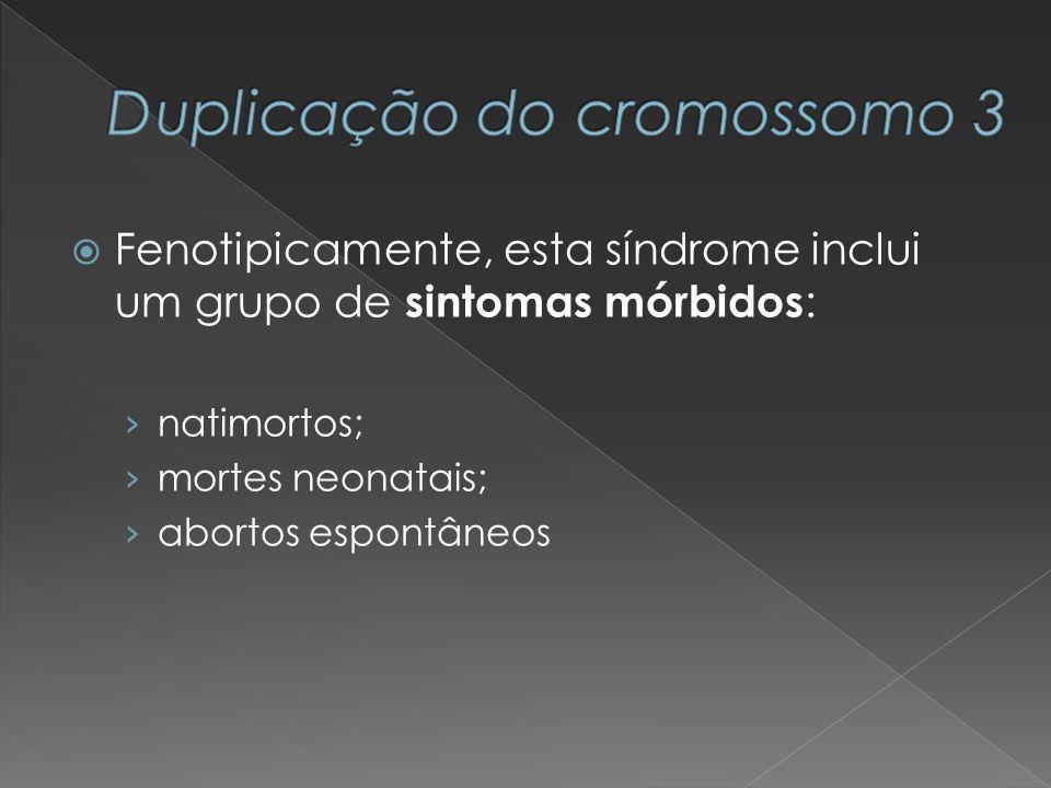 Fenotipicamente, esta síndrome inclui um grupo de sintomas mórbidos : natimortos; mortes neonatais; abortos espontâneos