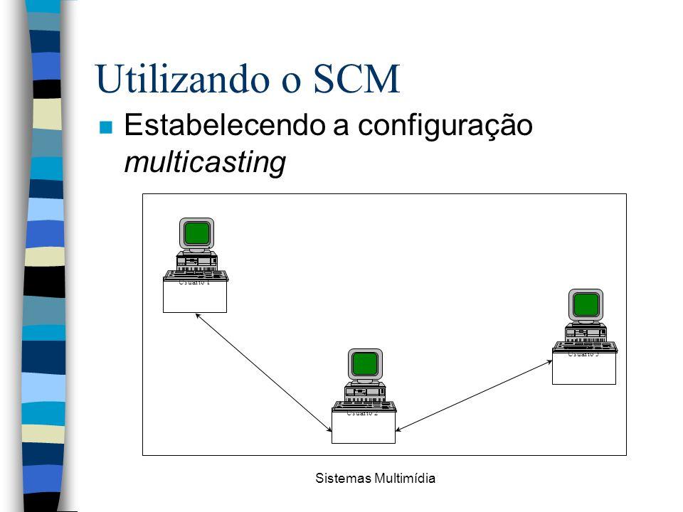 Sistemas Multimídia Utilizando o SCM n Estabelecendo a configuração multicasting Usuário 1 Usuário 3 Usuário 2