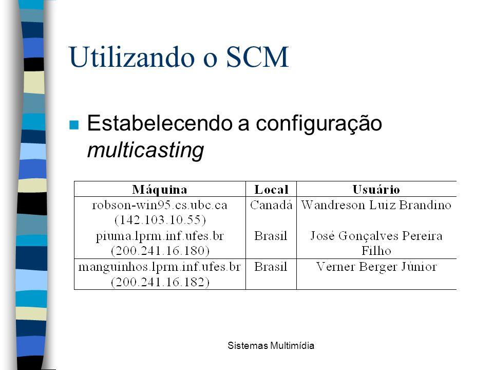 Sistemas Multimídia Utilizando o SCM n Estabelecendo a configuração multicasting