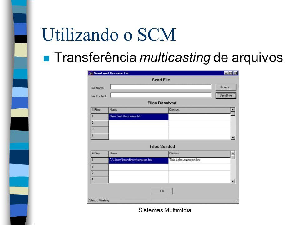 Sistemas Multimídia Utilizando o SCM n Transferência multicasting de arquivos