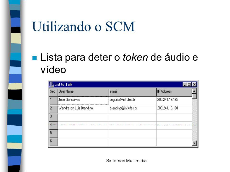 Sistemas Multimídia Utilizando o SCM n Lista para deter o token de áudio e vídeo