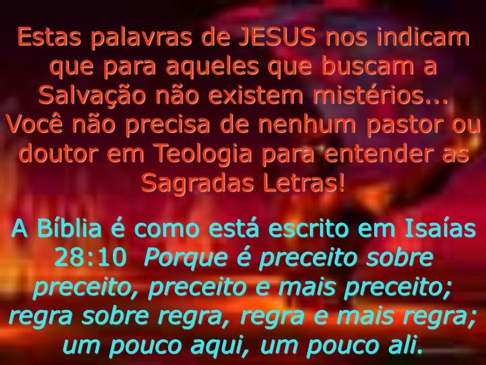 A Parábola do Trigo e do Joio nos responde! Em Mateus 13:24-26 JESUS falou aos que O ouviam à beira-mar através de PARÁBOLAS. e... Quando Jesus ficou