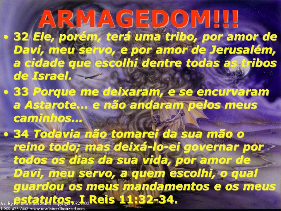 ARMAGEDOM!!! O Armagedom, antes de tudo é uma Guerra contra DEUS! Jerusalém representa o Trono do Messias sobre os homens pois hoje, Ele se encontra s