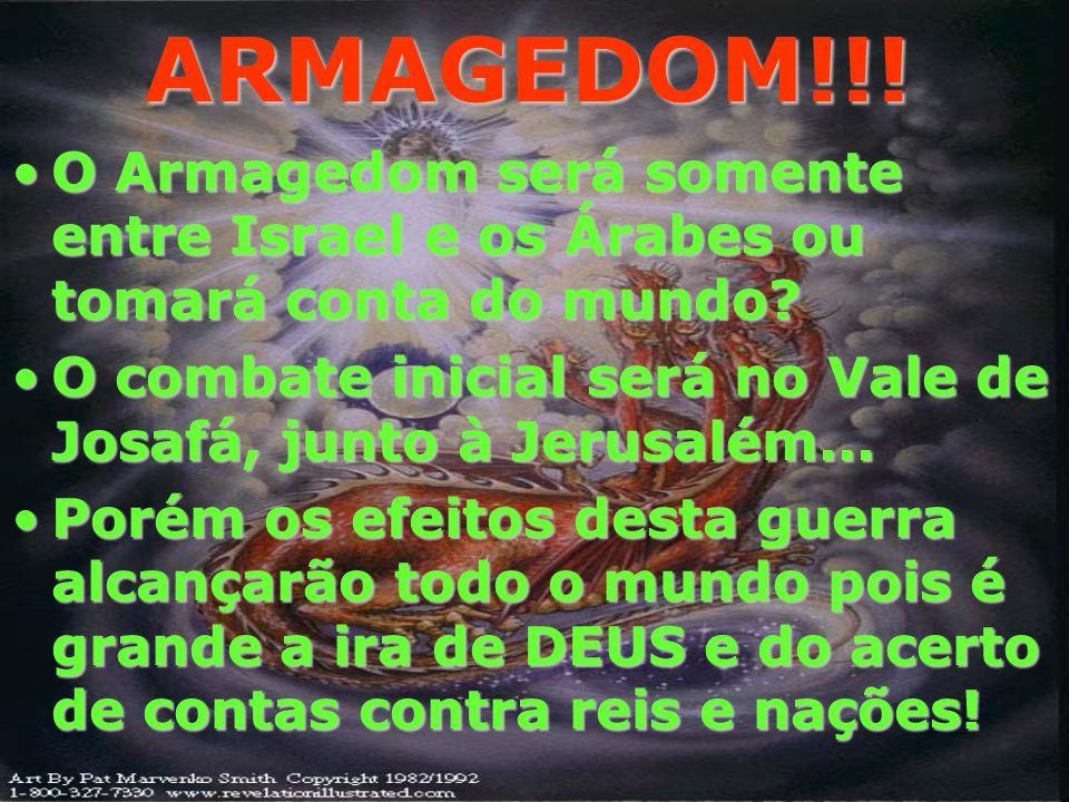 ARMAGEDOM!!! 15 E foram soltos os quatro anjos que haviam sido preparados para aquela hora e dia e mês e ano, a fim de matarem a terça parte dos homen