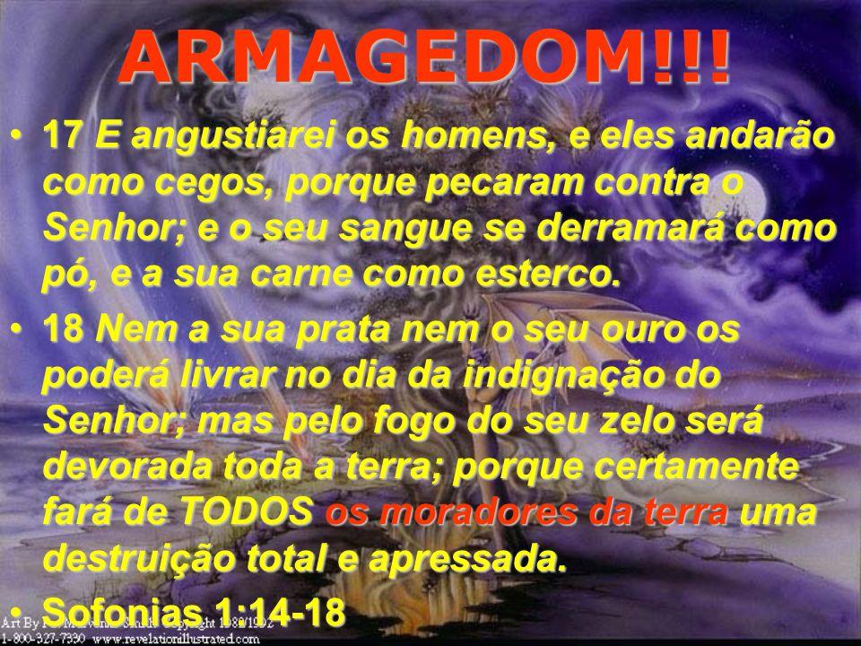 ARMAGEDOM!!! 14 O grande dia do Senhor está perto; sim, está perto, e se apressa muito; ei-la, amarga é a voz do dia do Senhor; clama ali o homem pode