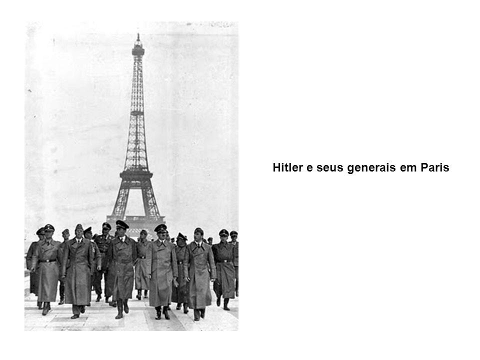 Hitler e seus generais em Paris