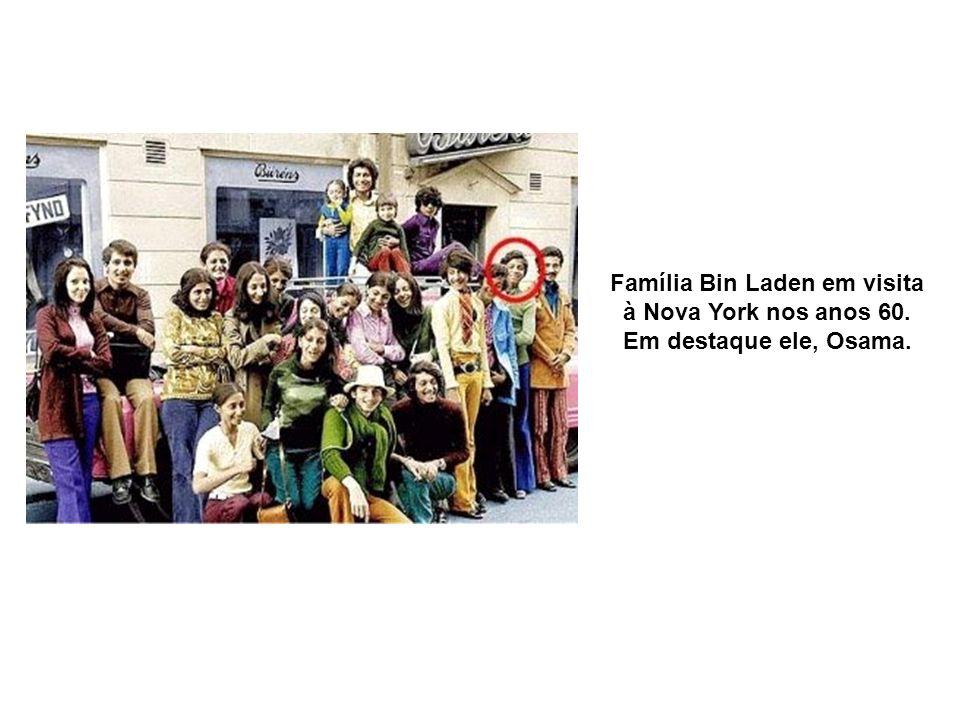 Família Bin Laden em visita à Nova York nos anos 60. Em destaque ele, Osama.