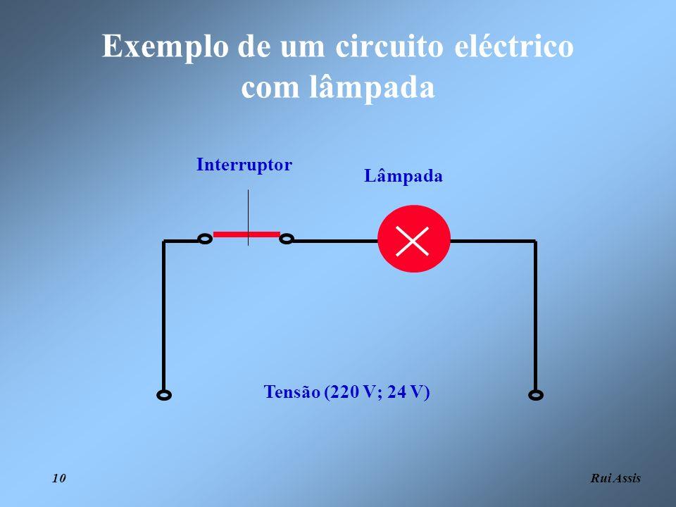 Rui Assis 10 Tensão (220 V; 24 V) Lâmpada Interruptor Exemplo de um circuito eléctrico com lâmpada