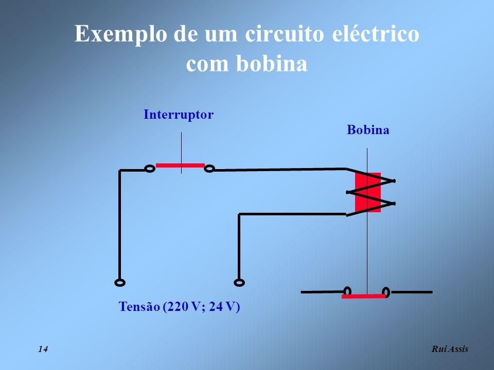 Rui Assis 14 Tensão (220 V; 24 V) Interruptor Bobina Exemplo de um circuito eléctrico com bobina