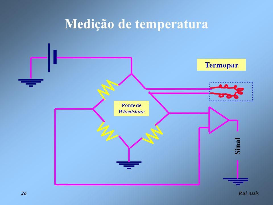 Rui Assis 26 Medição de temperatura Termopar Sinal Ponte de Wheatstone