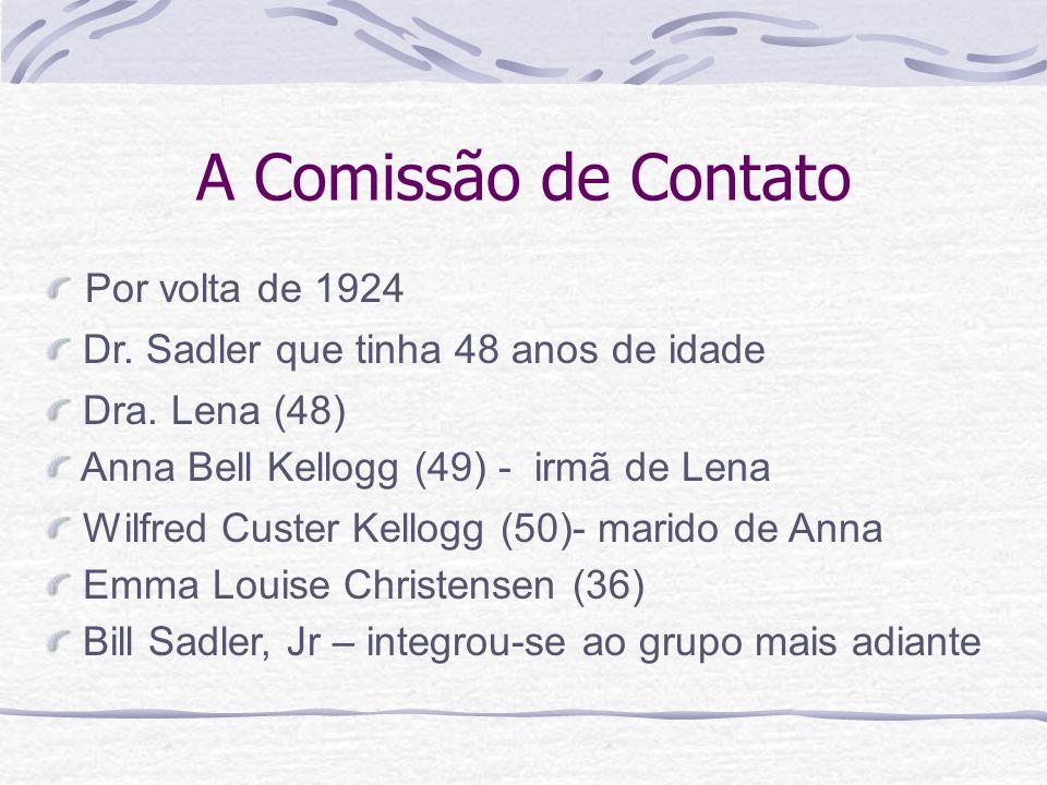 A Comissão de Contato Por volta de 1924 Bill Sadler, Jr – integrou-se ao grupo mais adiante Emma Louise Christensen (36) Wilfred Custer Kellogg (50)-
