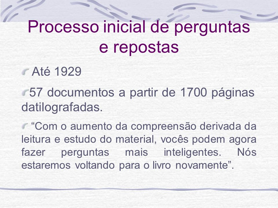 Os documentos 76 documentos iniciais se transformaram em 119 A História de Urântia – 63 documentos, sendo que originalmente eram 62 e depois foi acrescentado mais um documento (Documento 119) com a incorporação posterior da Parte IV O Universo Local – 25 documentos; O Universo Central e os Superuniversos – 31 documentos;