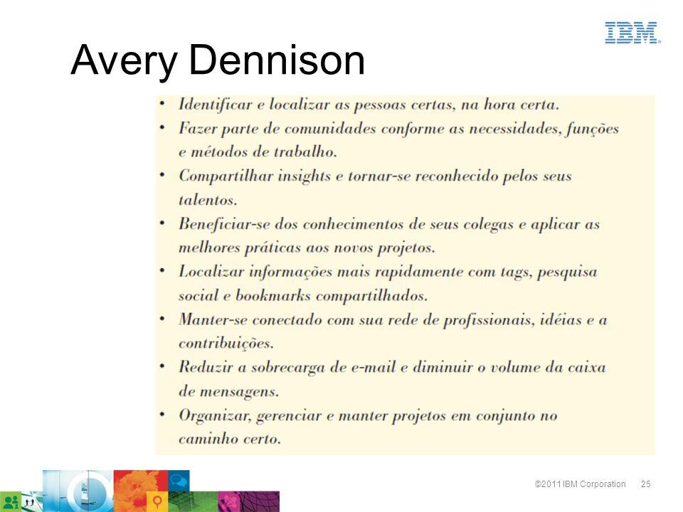 25©2011 IBM Corporation Avery Dennison