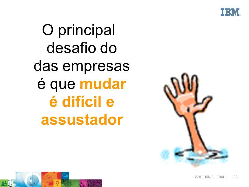 29©2011 IBM Corporation O principal desafio do das empresas é que mudar é difícil e assustador