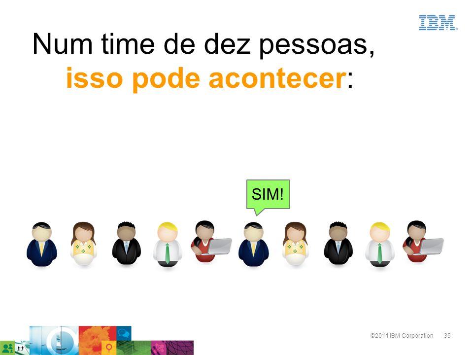35©2011 IBM Corporation SIM! Num time de dez pessoas, isso pode acontecer: