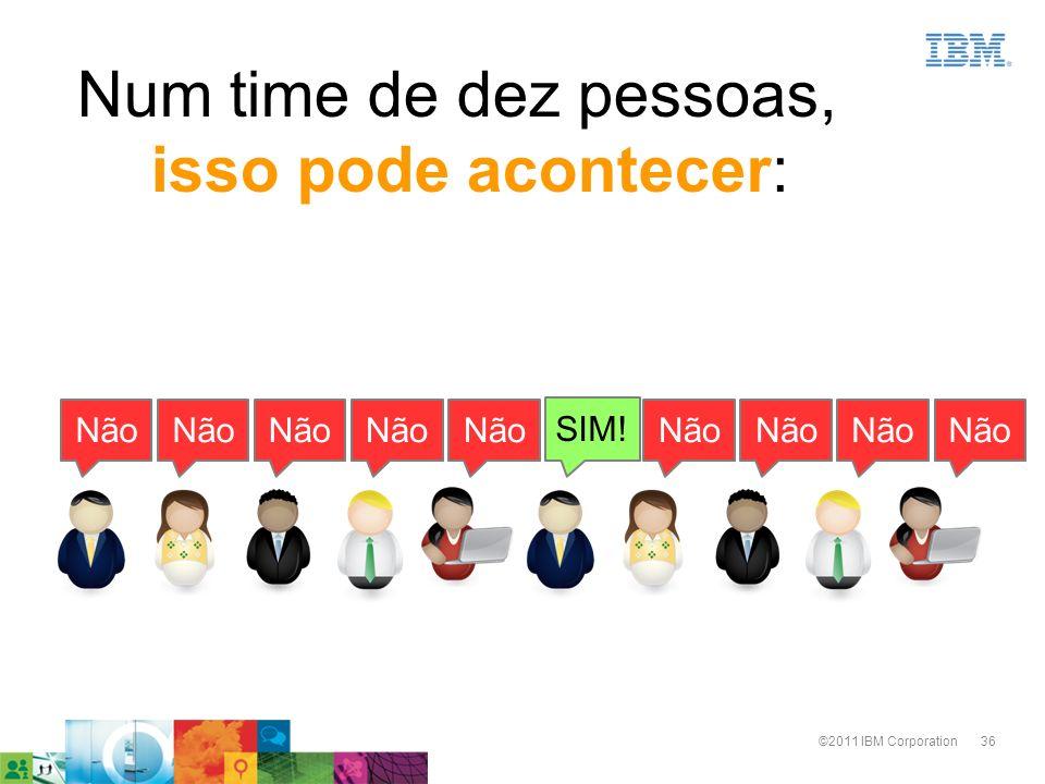 36©2011 IBM Corporation SIM! Não Num time de dez pessoas, isso pode acontecer: